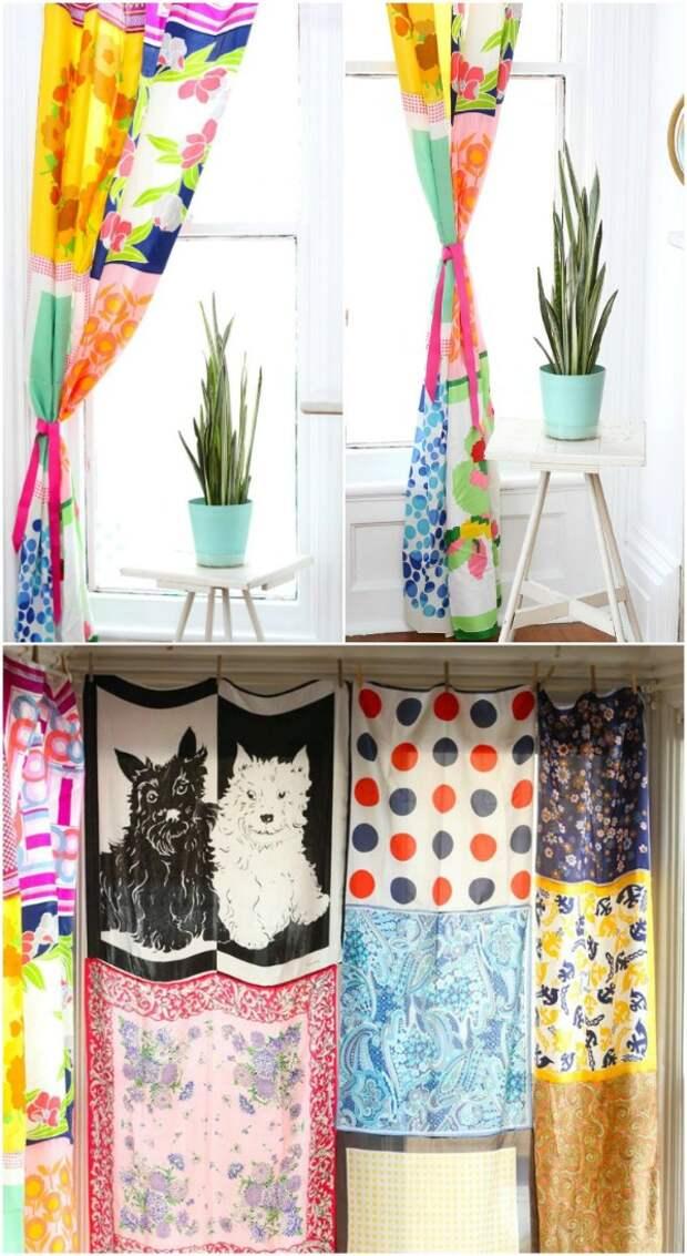 20 необычных идей по использованию старых шарфов и платков