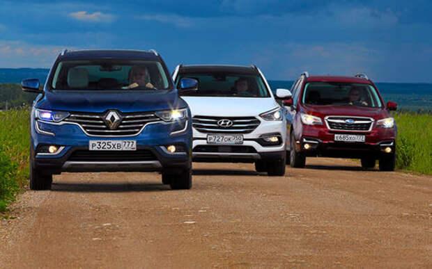 Новый Renault Koleos против конкурентов: буржуа, лесник и ленивец