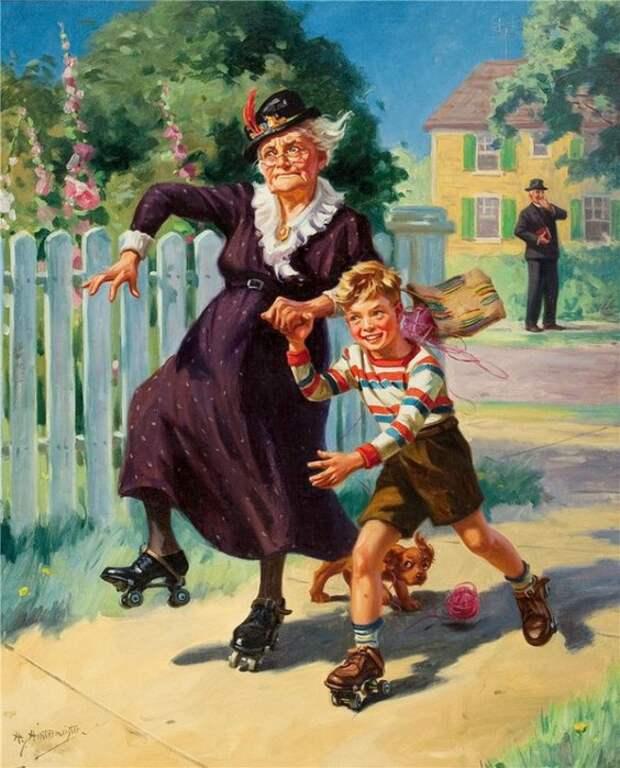 Как должна воспитывать внуков настоящая бабушка?