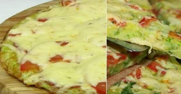 пицца из кабачков на сковороде
