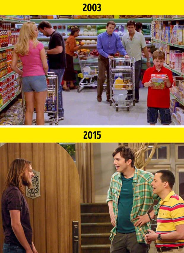 Сравнения между первым и последним эпизодами популярных сериалов