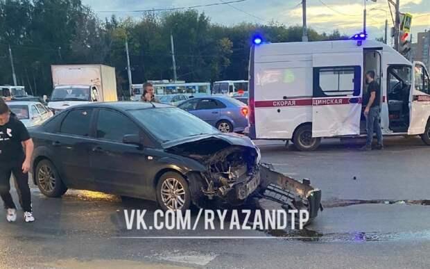 В Рязани на перекрёстке у «Глобуса» произошло серьёзное ДТП