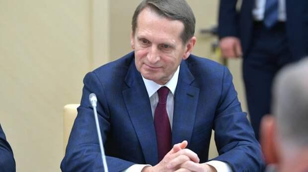 Нарышкин назвал слова Навального об отравлении «русофобской пропагандой»