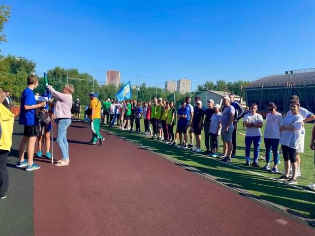 Сборная Южного Медведкова приняла участие в эстафете по легкой атлетике