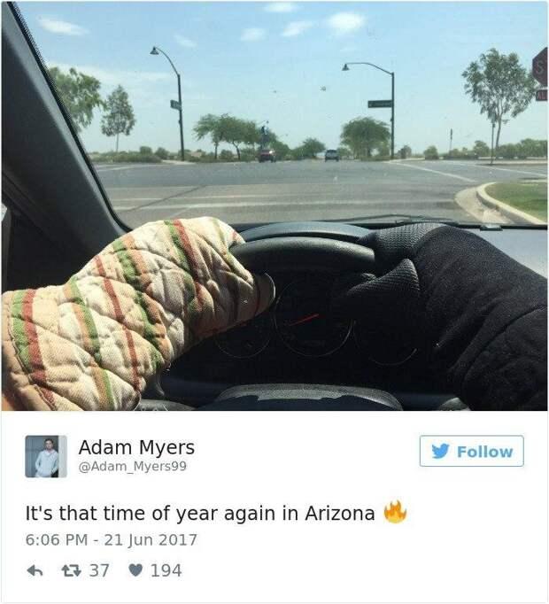 Рекордная жара в Аризоне