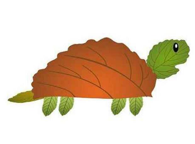 """Аппликация Животные из листьев """" Мастерклассы"""