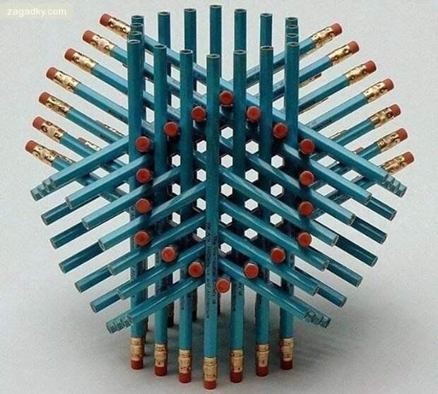 Загадки в картинках: Лёгкая загадка: сколько карандашей на картинке?