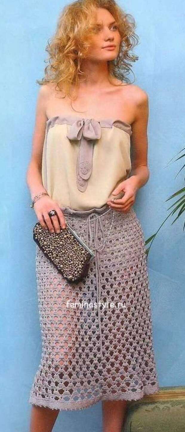 Винтажная юбка крючком