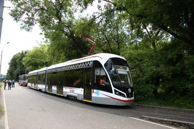Трамваи в Строгине не будут ходить с 26 по 27 июня
