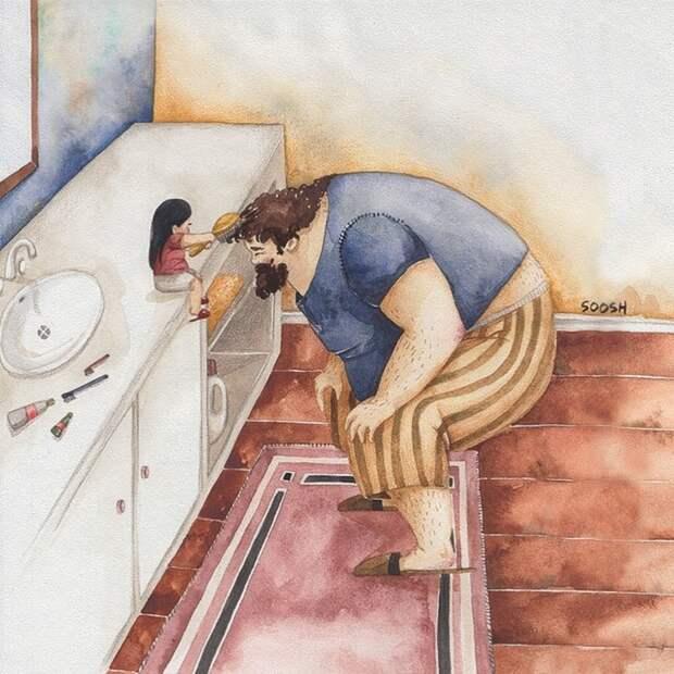 Подборка самых тёплых иллюстраций о семье, который растопят ваши сердца