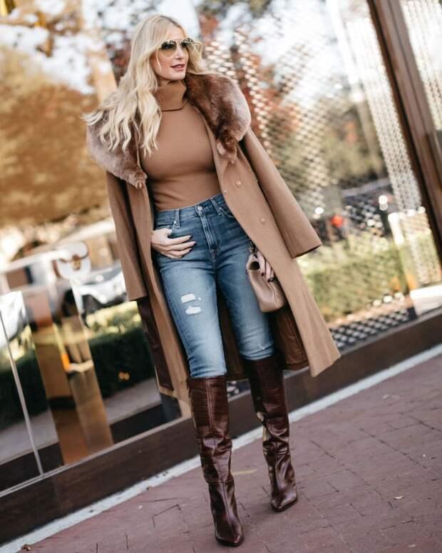 Как носить узкие джинсы дамам среднего возраста