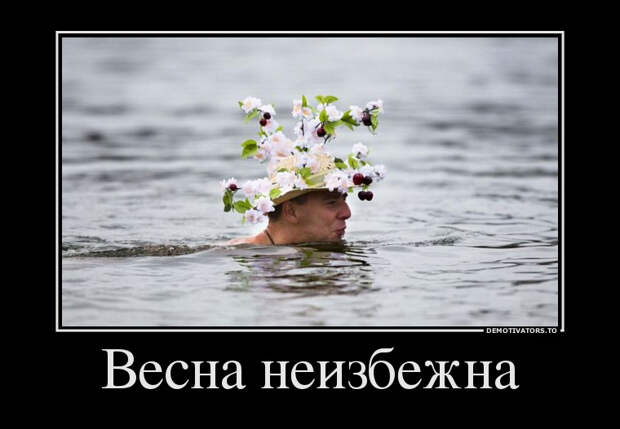Смешные и классные демотиваторы про весну