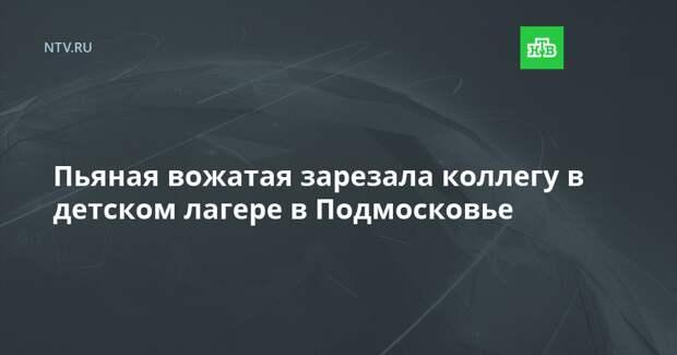 Пьяная вожатая зарезала коллегу в детском лагере в Подмосковье