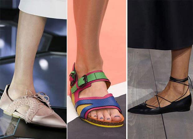 Удобная обувь на плоской подошве - тенденции весна-лето 2015