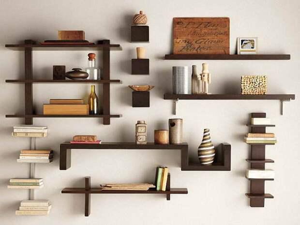 Необычные полки под книги