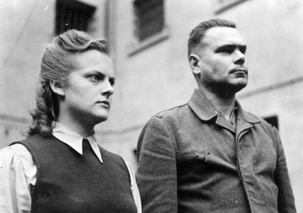 Надзирательница Ирма Грезе и комендант концлагеря Йозеф Крамер. | Фото: img12.nnm.me.