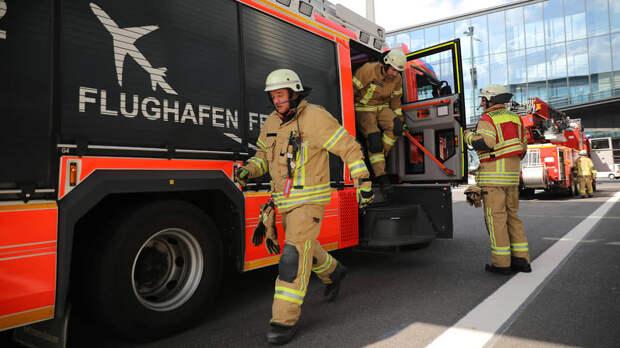 Пожарные учения накануне открытия аэропорта, 2020 год