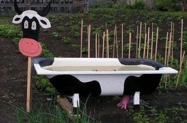 Идеи поделок для сада из старых вещей