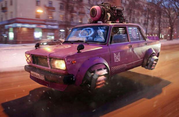 Россия 2077: летающие Жигули и ходячая «буханка»