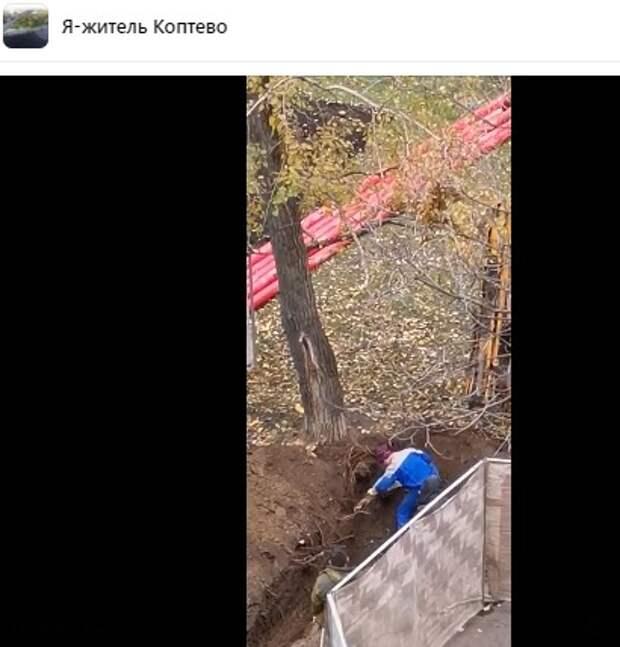 В 3-м Михалковском старое перекрытие спутали с корнем дерева