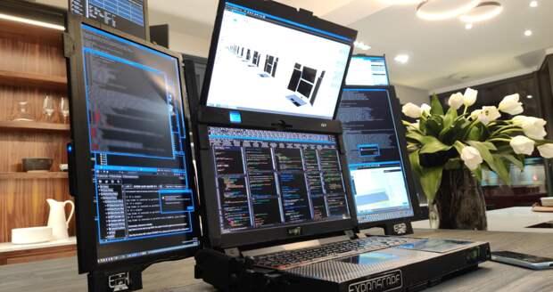 Британская Expanscape представила ноутбук с семью дисплеями