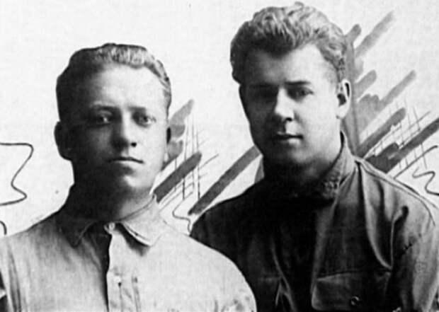 П. Чагин и С. Есенин, Баку, 1924 | Фото: esenin.ru