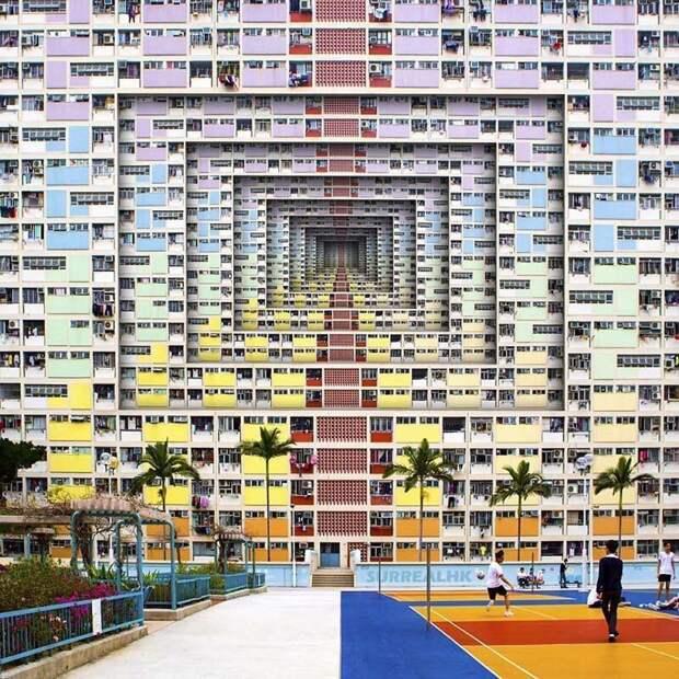 6. Абсолютно неважно, насколько они красочны, после того, как квартиры поделили на комнаты, они превратились в крошечные тёмные кабинки, которые люди называют домом Томми Фанг, гонконг, забавно, талант, фантазия, фото, фотошоп, художник