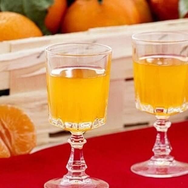 Напиток с мандаринами и водкой – «Мандариновый ликер»!