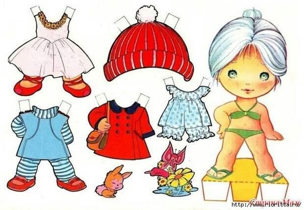 Очаровательные бумажные куколки