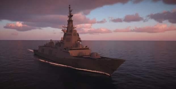 На видео показали европейский боевой корабль нового поколения