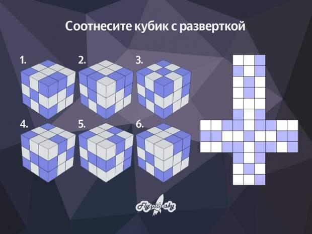 Сможете ли вы соотнести кубик с разверткой?