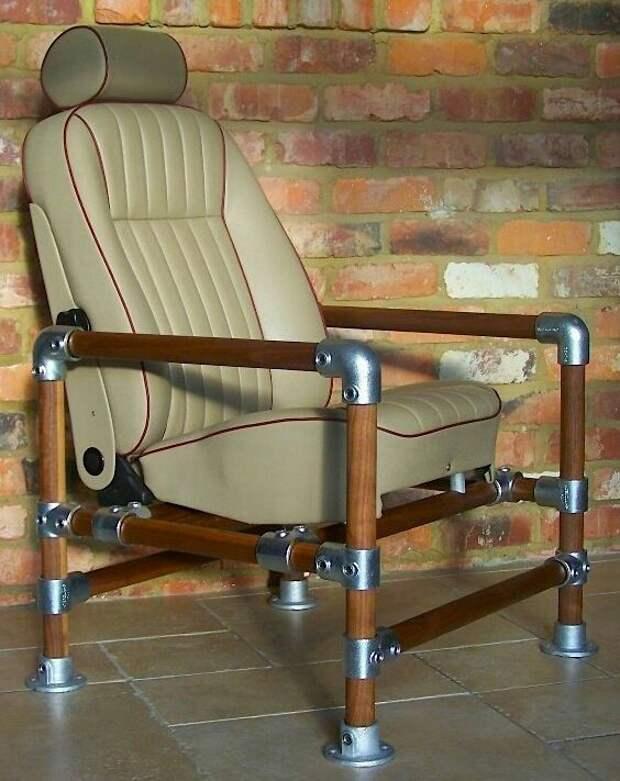Стильная мебель из труб. Идеи