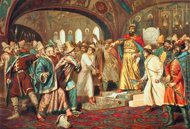 Иван III разрывает даннические отношения с Большой Ордой
