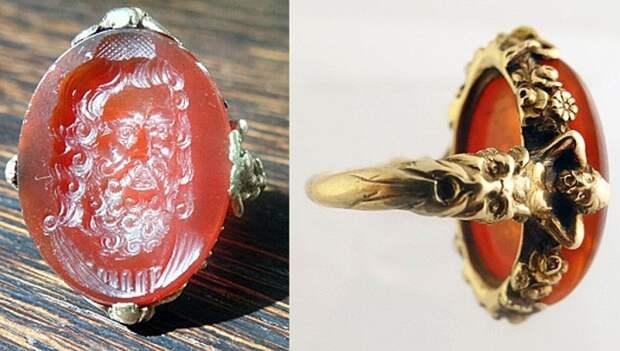 Кольцо с инталией