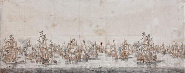 Сражение при Фемарне, 1644 год. Художник Виллем ван дер Велде Старший - Датский флот нового времени: типы кораблей | Warspot.ru