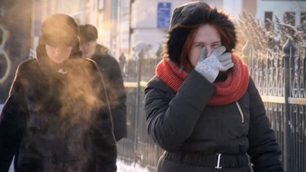 В Самаре температура опустились ниже -40 градусов