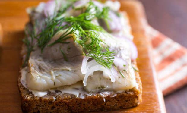 Солим салаку для бутербродов: быстро поставили с вечера, а на следующий день уже можно есть