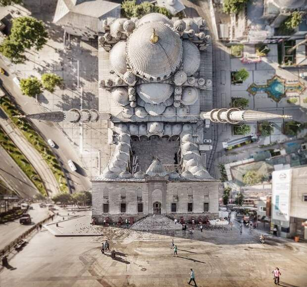 Искривленный Стамбул в духе фильма «Начало»