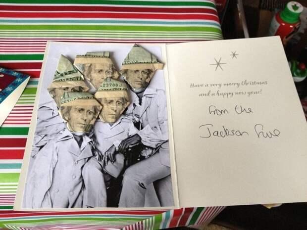 13. Новогодняя открытка от папы забавно, отцы, папы, подборка, приколы, смешно, фото, юмор