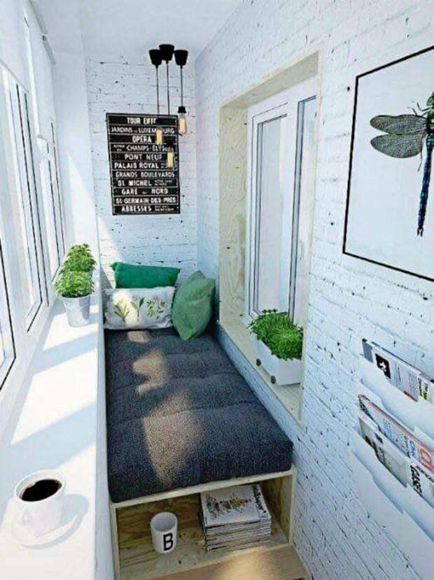 Балкон с диванчиком. | Фото: Life - RU.com.