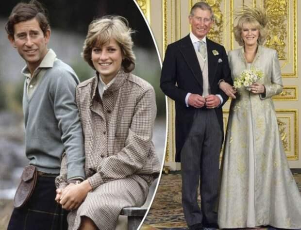Принцесса Диана, принц Чарльз и герцогиня Камилла Паркер-Боулз