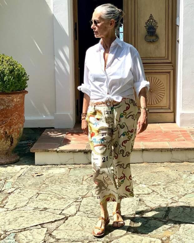 В ногу со временем! 10 кэжуал образов на каждый день для леди 50+
