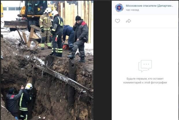 Бойцы «СпасРезерва» спасли в Печатниках застрявших в трубе щенят