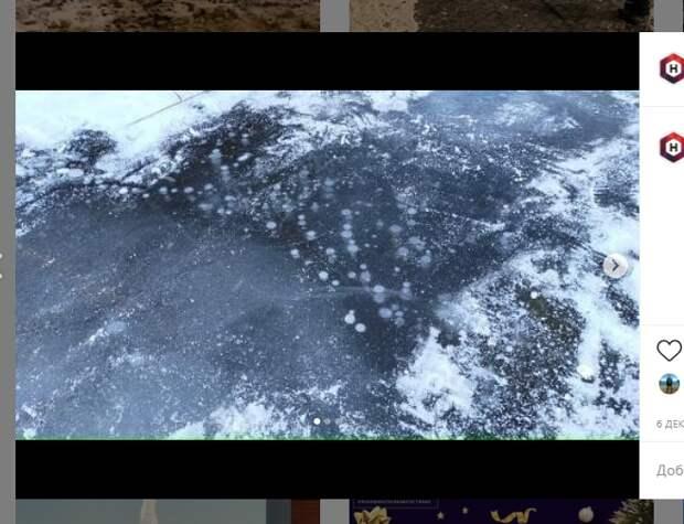 Фото дня: трещины на Черном озере