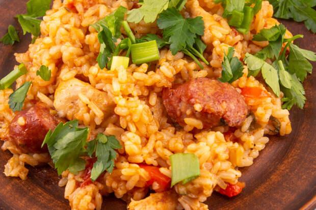 Джамбалайя с грязным рисом.