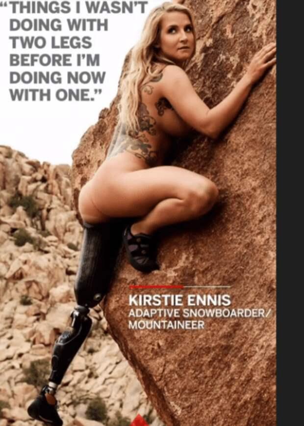 Кирсти ЭЖЖннис - альпинистка, сноубордистка. Потеряла ногу в Афганистане, будучи военнослужащей американской армии женщины, жизнь, инвалидность, сила воли