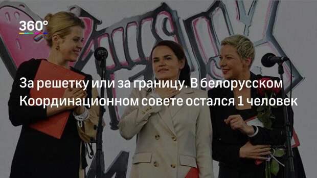 За решетку или за границу. В белорусском Координационном совете остался 1 человек
