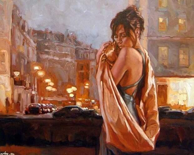 Художник Mark Spain. Прекрасная и одинокая