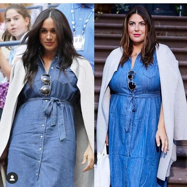 Как девушкам с большим весом выглядеть красиво. Модель с 52-м размером одежды повторяет образы знаменитых худышек