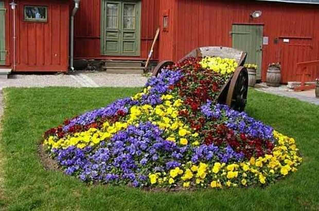 Дизайн клумб на даче: как сделать оригинальный «Цветочный ручей»